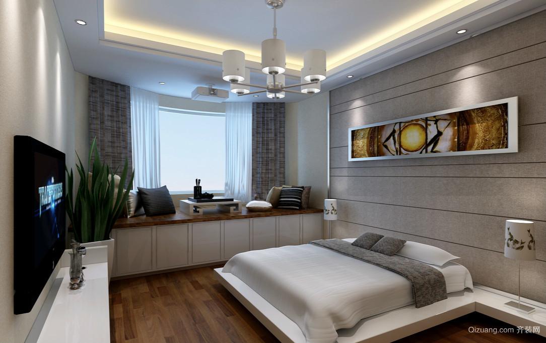 后现代风单身公寓卧室榻榻米装修效果图