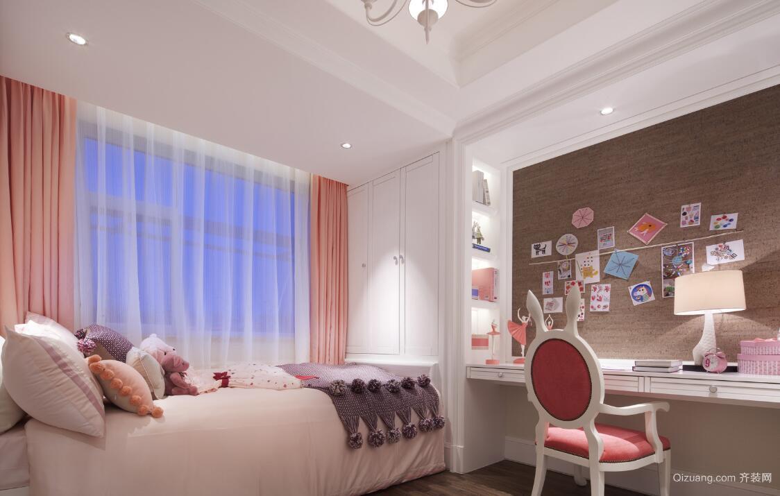 粉色简欧风儿童房装修设计效果图