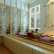 典雅日式风小书房榻榻米装修效果图