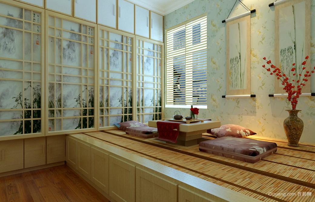 韩式155平米家居书房榻榻米装修效果图