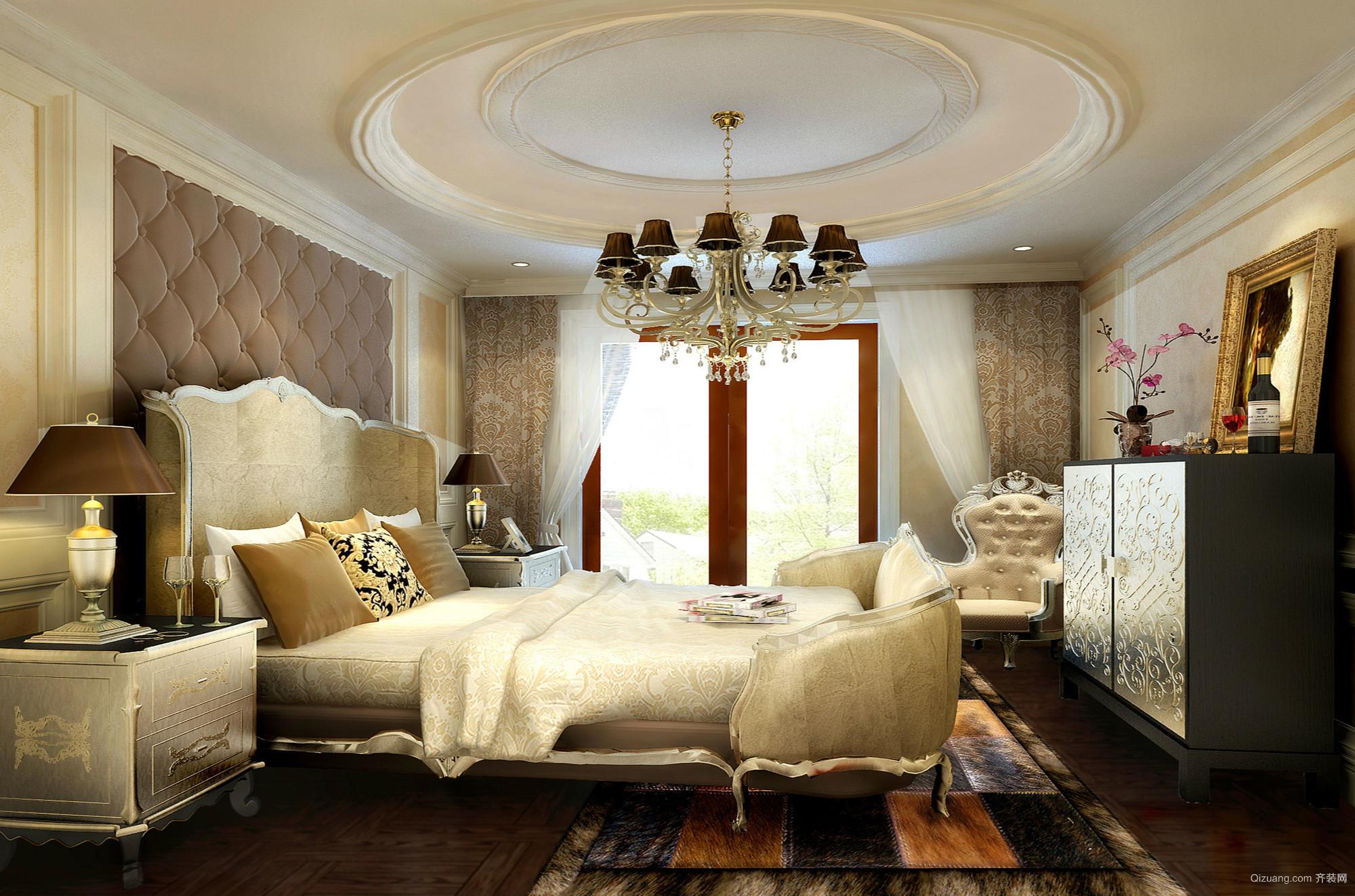 221平米大户型家居古典风卧室设计效果图