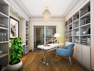 2016宜家前卫的三室一厅书房设计效果图