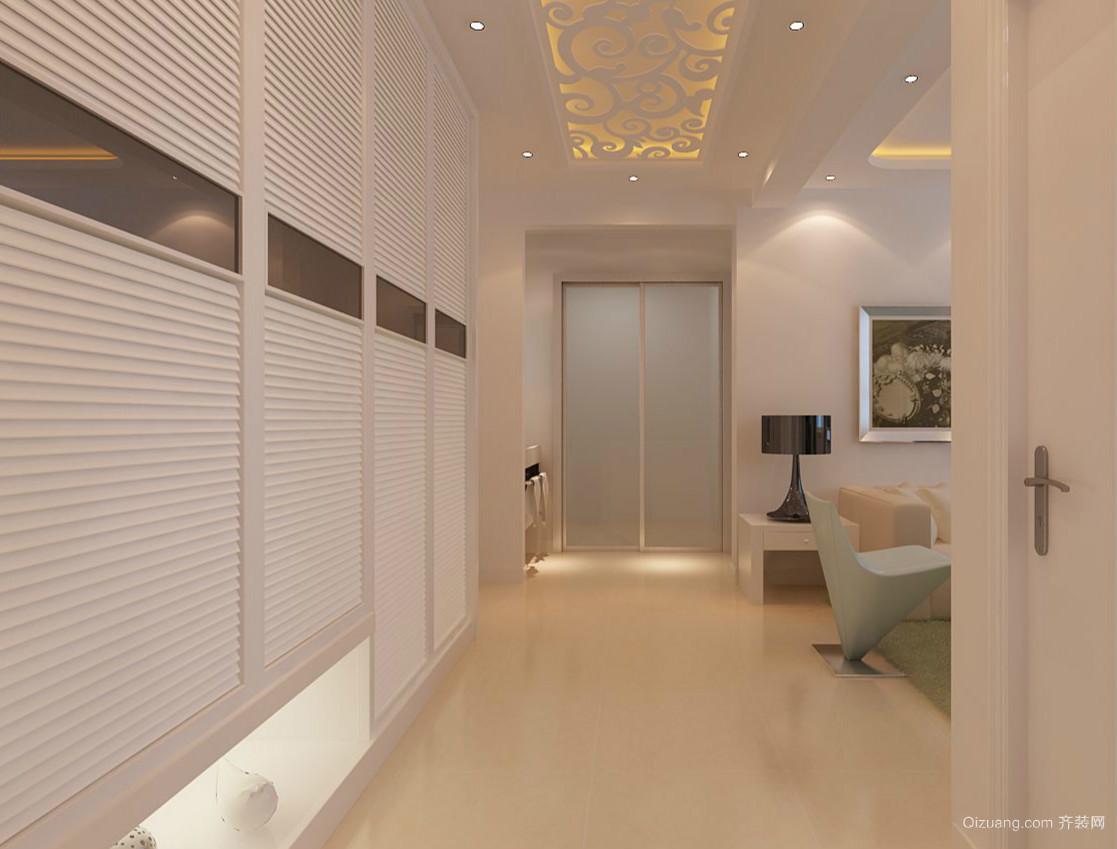 浅色调两室一厅朴素玄关设计装修效果图