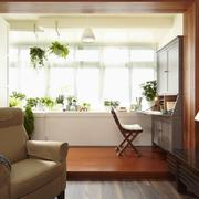 69平米小户型宜家阳台书房装修实景图片