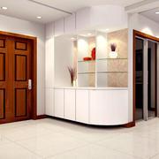 都市两居室时尚玄关柜设计装修效果图
