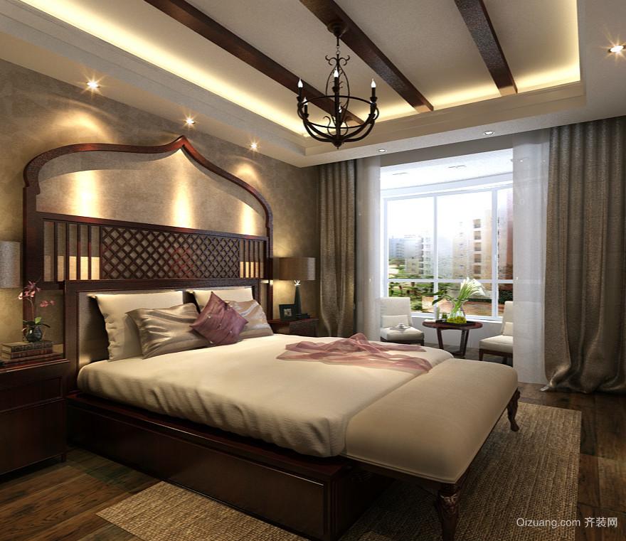 174平米四居室东南亚风格卧室设计效果图