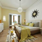 大别墅混搭风格清爽卧室设计效果图
