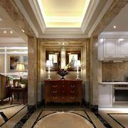 151平米大户型美式玄关设计装修效果图