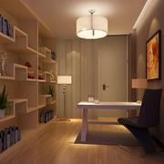 温馨宜家的书房个性书柜设计效果图