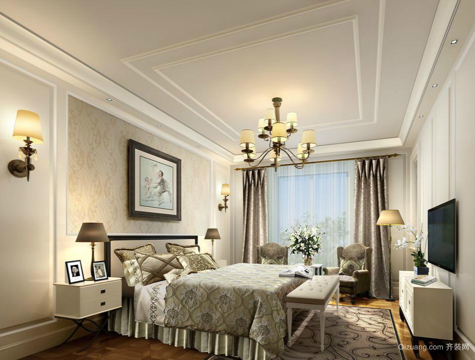 古典风格25平米大卧室设计装修效果图
