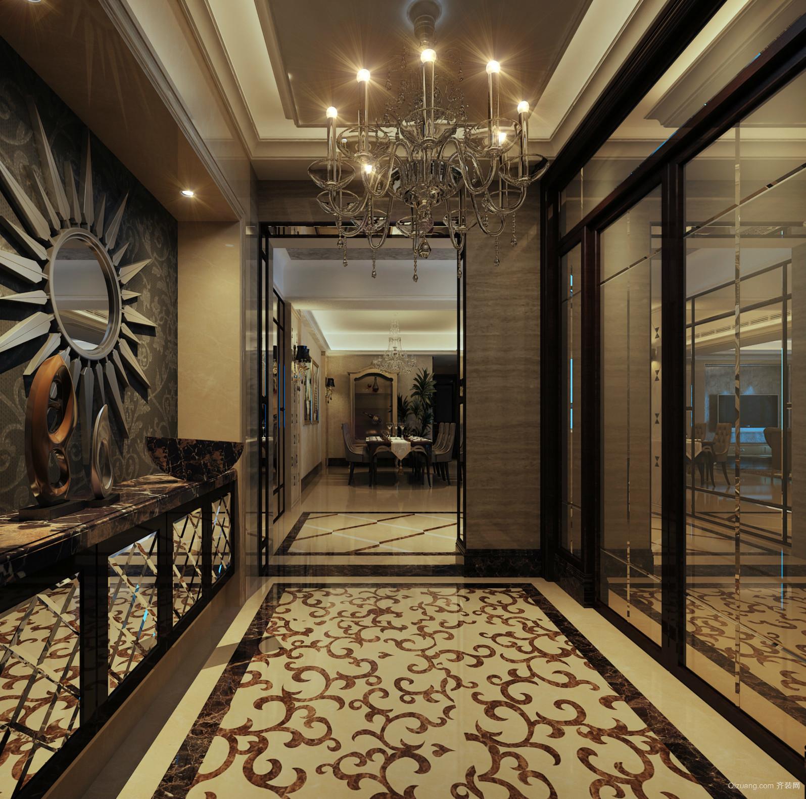 高端大户型家居后现代玄关设计装修效果图