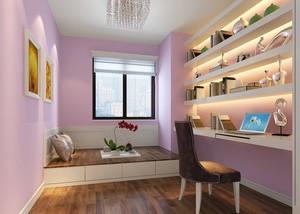 紫色都市15平米小书房设计效果图