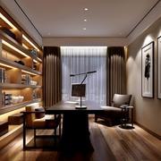 精致现代化的大户型书房设计效果图