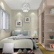 素雅浅色调田园风格卧室设计效果图
