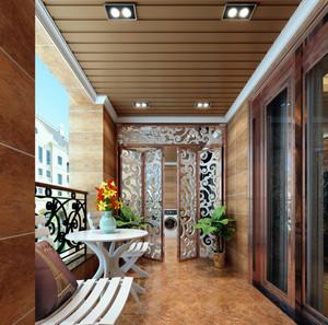 艺术创作之大户型阳台隔断门装修实景图