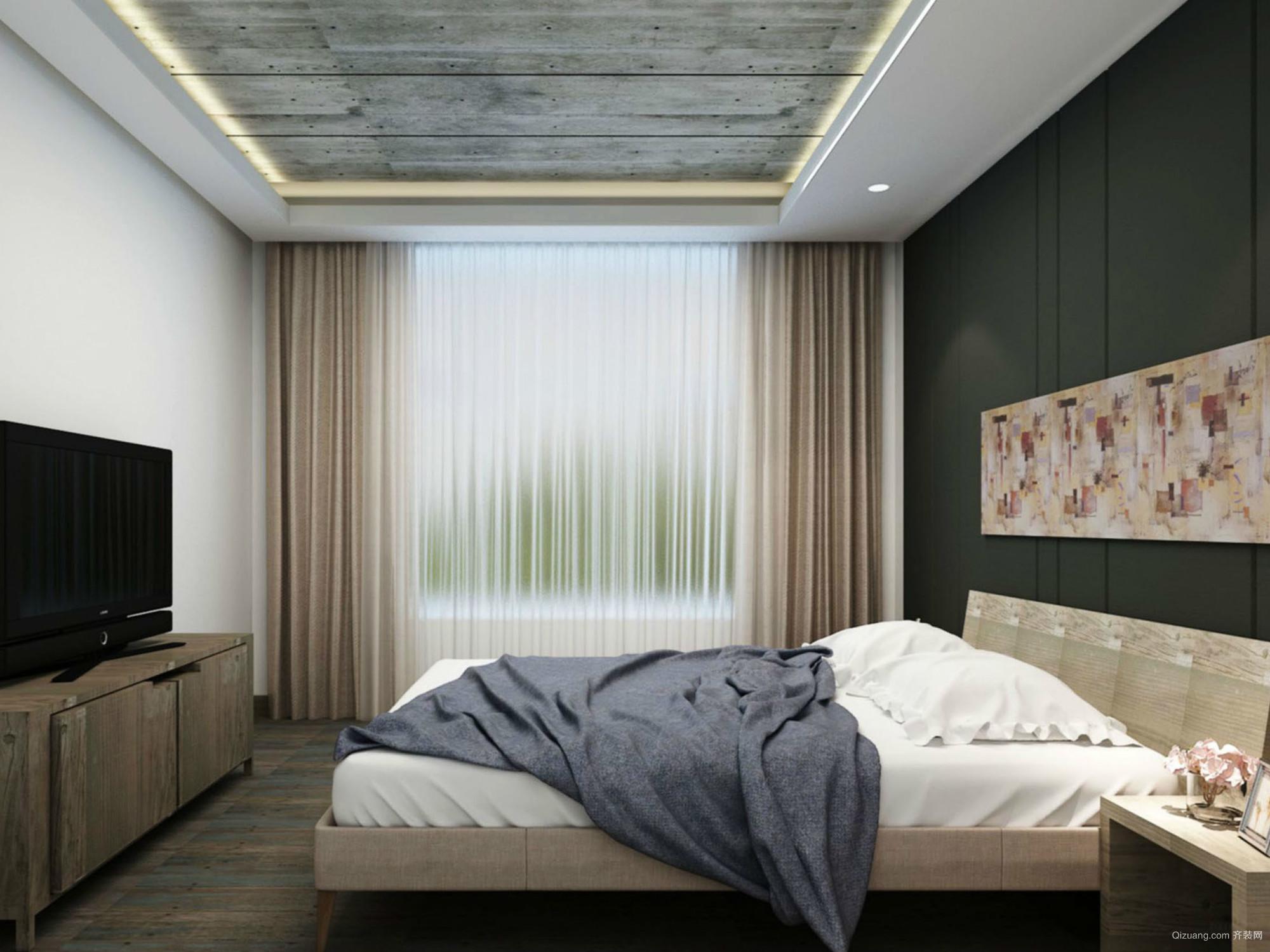 2016后现代风格17平米卧室设计效果图
