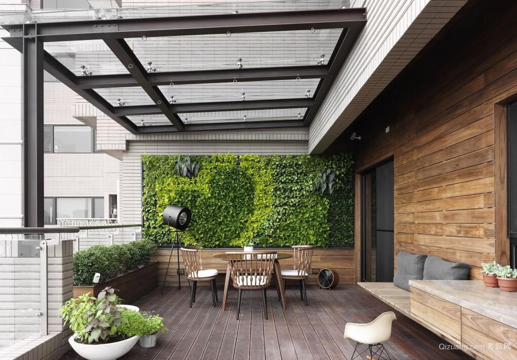 自然风格大型家居阳台装修实景图片
