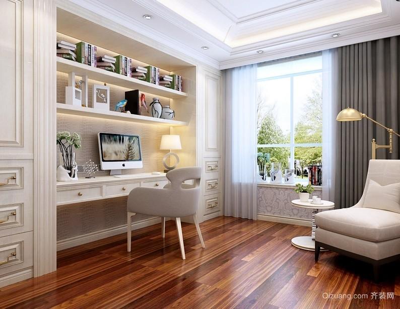 简欧风格独栋小别墅家居书房设计效果图