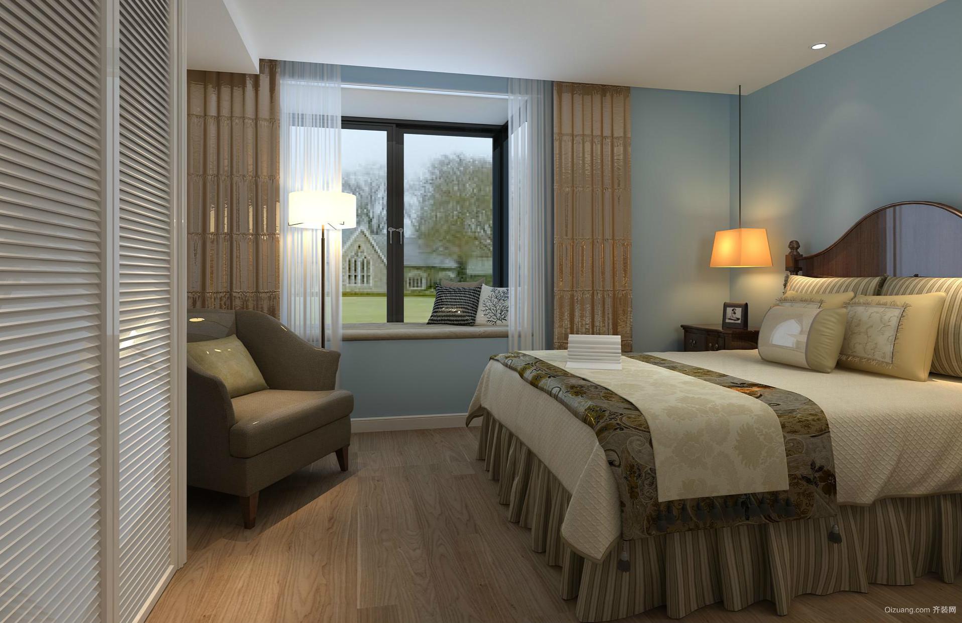 轻古典风格137平米家居卧室设计效果图