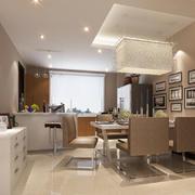 摩登前卫的两室一厅餐厅设计效果图