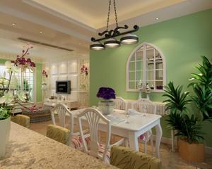 清新田园风单身小公寓餐厅设计效果图
