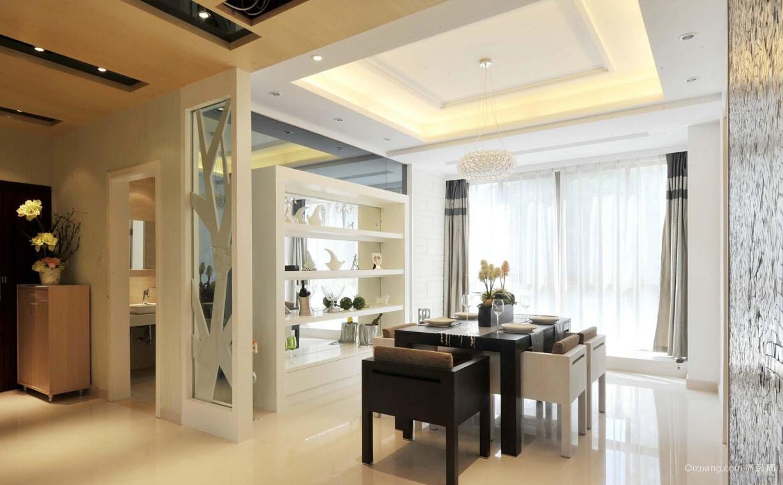 102平米新房现代风格餐厅设计效果图