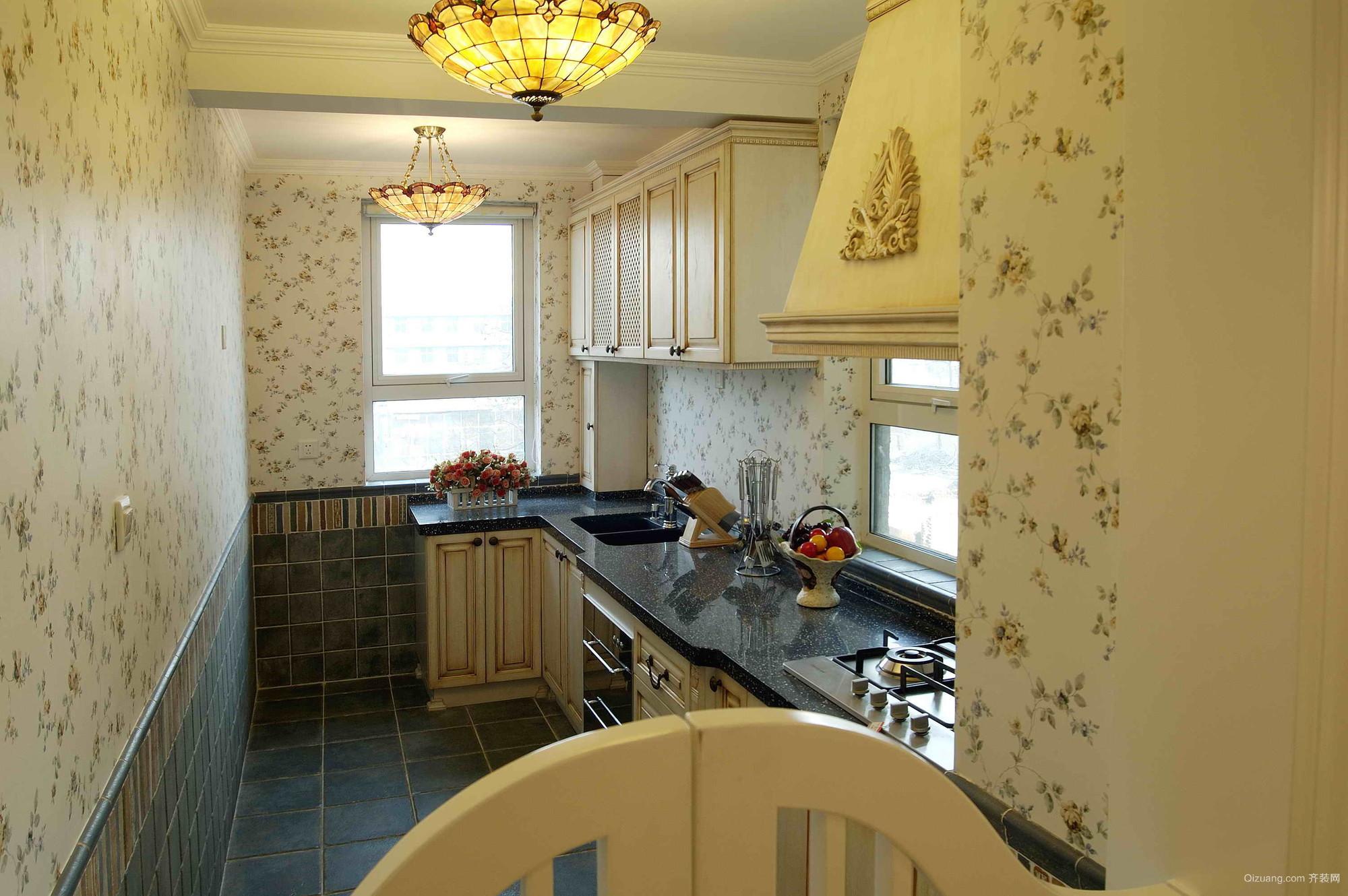 田园风格家居小厨房装修设计效果图