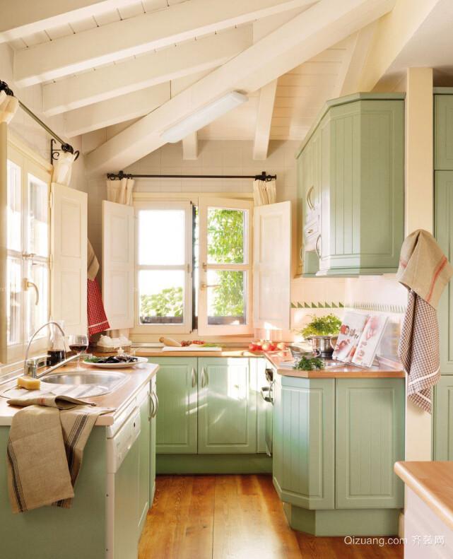 清新6平米小户型厨房装修设计效果图