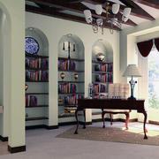 2016唯美经典的大户型书房装修效果图鉴赏