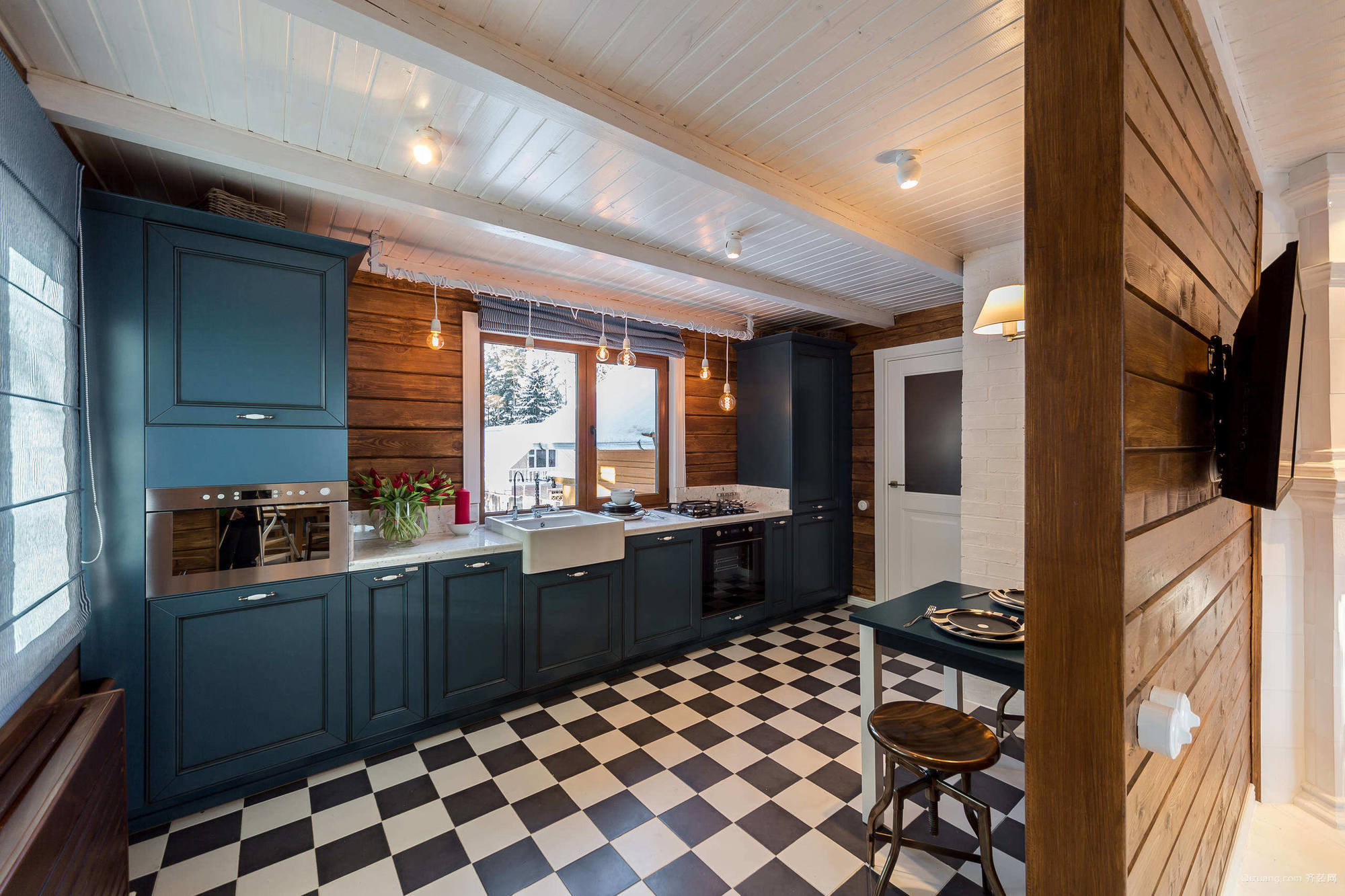 时尚宜家的大户型厨房装修设计效果图