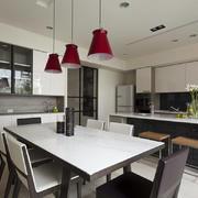 黑白系列现代家居厨房装修设计效果图