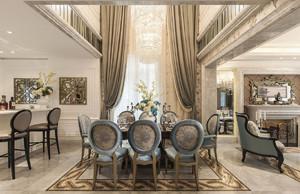 2016豪华大别墅法式风格餐厅设计效果图