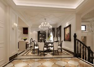 三层复式楼新古典风格餐厅设计效果图