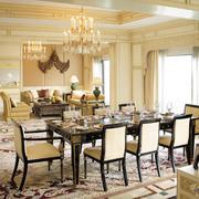 法式风格大户型别墅餐厅设计效果图