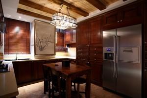 三居室美式乡村风格厨房装修设计效果图