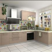宜家时尚的L字型厨房装修设计效果图
