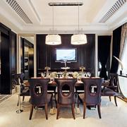 后现代风145平米四居室餐厅设计效果图