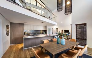 2016复式楼现代开放式厨房装修设计效果图