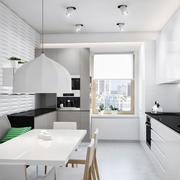 灰白系简约风小厨房装修设计效果图