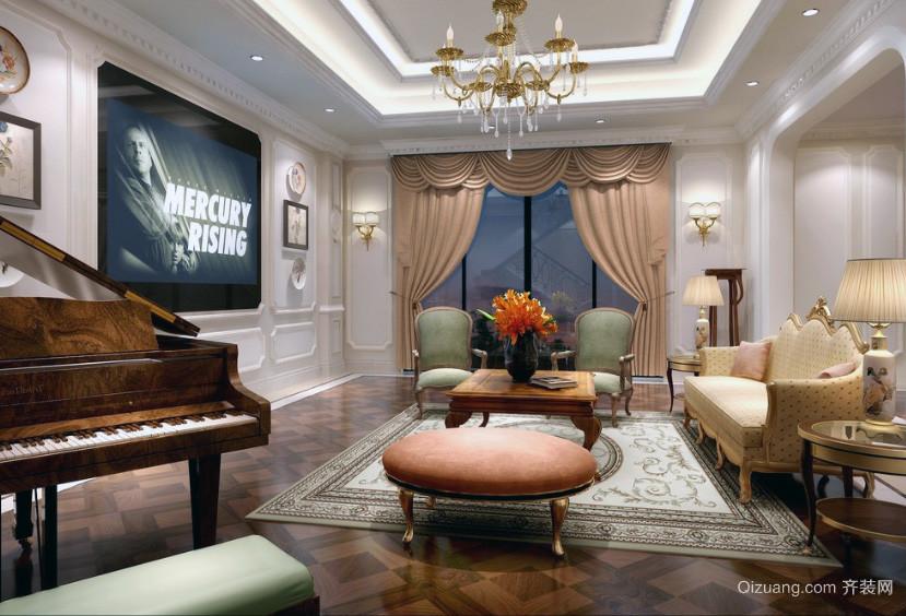 2016小户型欧式客厅装修效果图实例