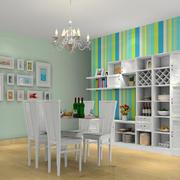 清新宜家的小户型餐厅设计效果图