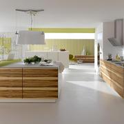 现代宜家的开放式厨房装修设计效果图