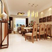温馨东南亚风格小户型餐厅设计效果图