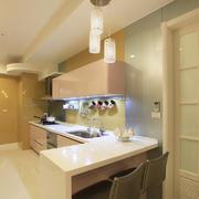 一居室简约开放式小厨房装修设计效果图