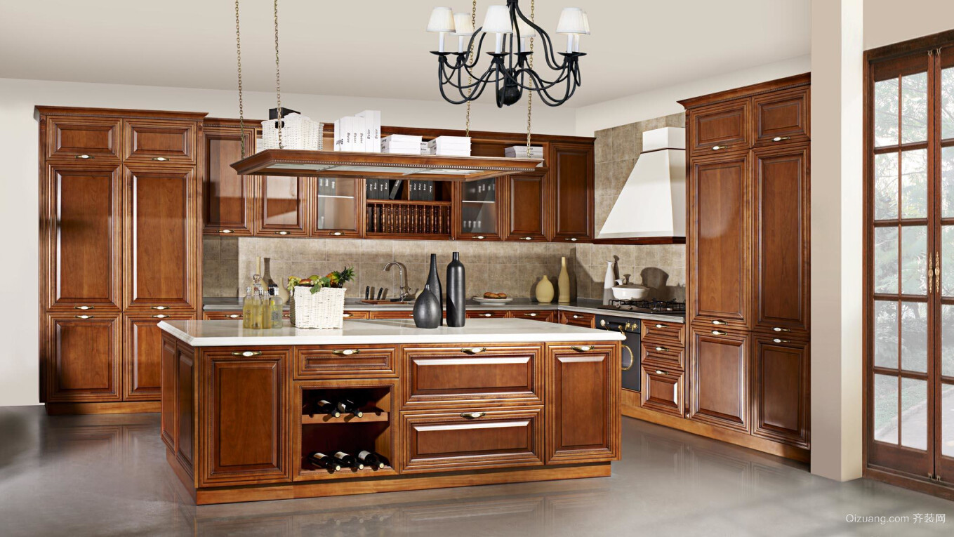 低调的奢华:美式大厨房装修设计效果图