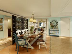 98平米两居室混搭风情餐厅设计效果图