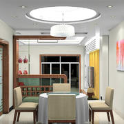 两室一厅现代中式风格餐厅设计效果图