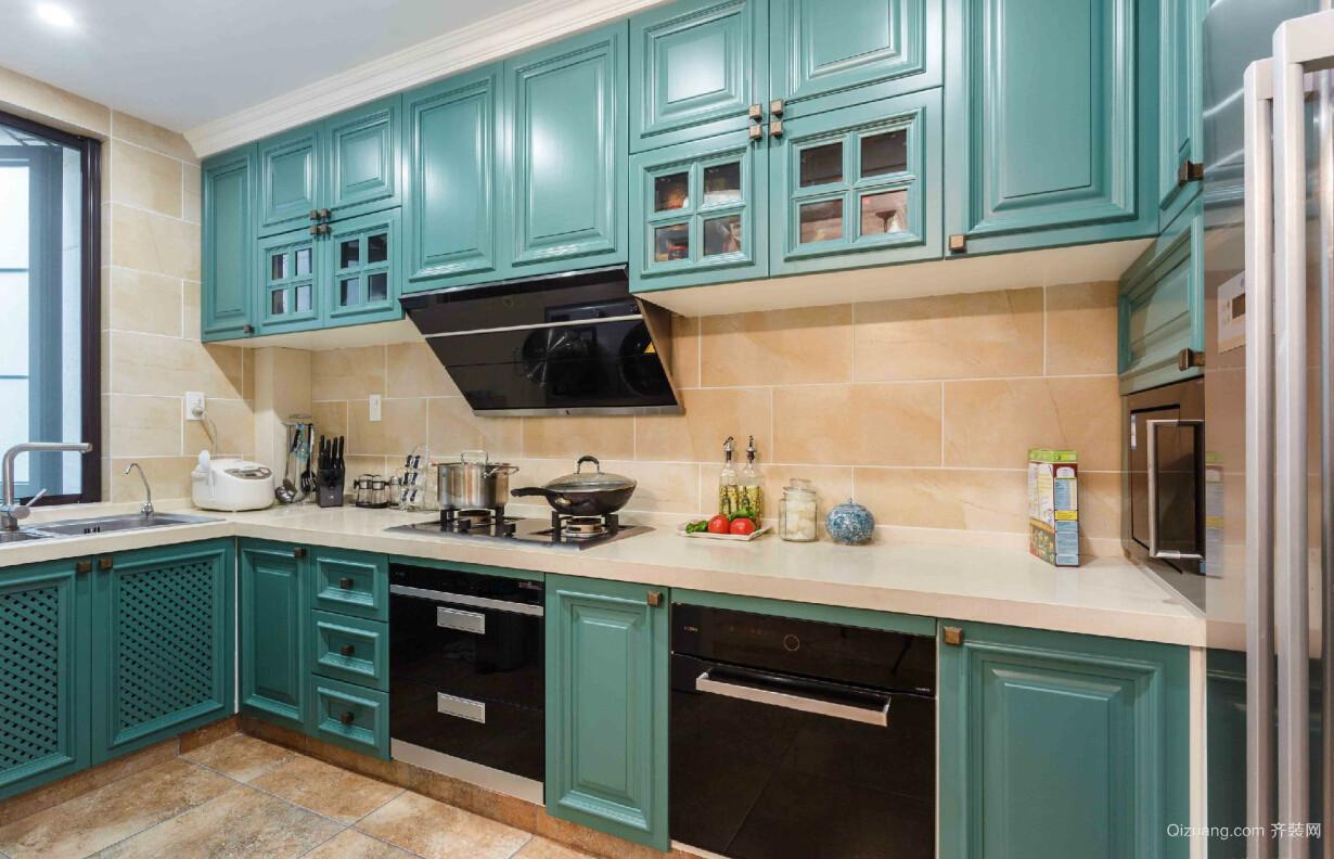 116平米家居实用厨房橱柜装修设计效果图