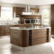 独栋别墅精致开放式厨房装修设计效果图
