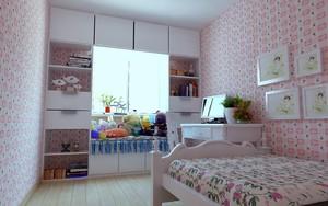 2016田园风格粉色儿童房设计装修效果图